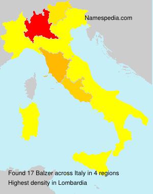 Surname Balzer in Italy