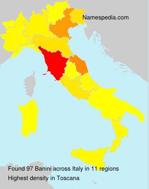 Surname Banini in Italy