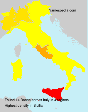 Surname Banna in Italy