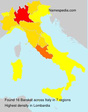 Surname Barakat in Italy