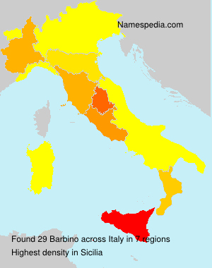 Surname Barbino in Italy