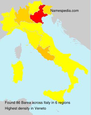 Familiennamen Barea - Italy
