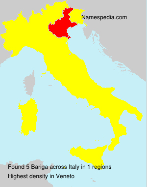 Surname Bariga in Italy