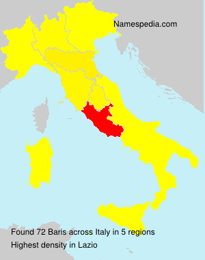Surname Baris in Italy