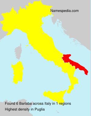 Familiennamen Barlaba - Italy