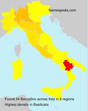 Familiennamen Barozzino - Italy