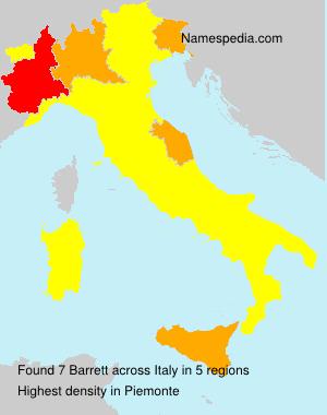 Familiennamen Barrett - Italy