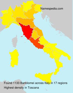 Surname Bartolomei in Italy