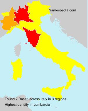 Surname Basati in Italy