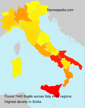 Surname Basile in Italy