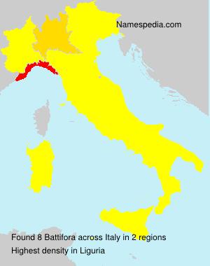 Surname Battifora in Italy