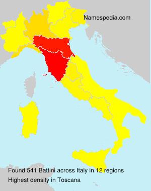 Familiennamen Battini - Italy