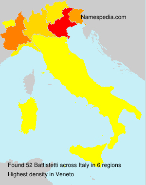 Surname Battistetti in Italy