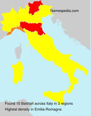 Familiennamen Battitori - Italy
