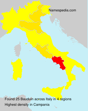 Surname Bauduin in Italy