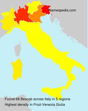 Familiennamen Beacco - Italy