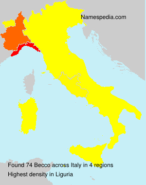 Surname Becco in Italy