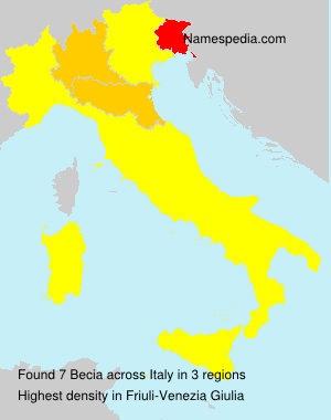 Surname Becia in Italy