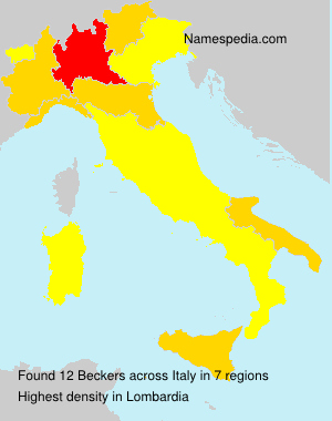 Surname Beckers in Italy