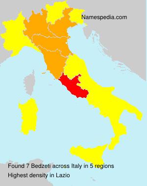 Surname Bedzeti in Italy
