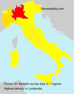 Surname Bellorini in Italy