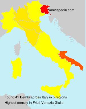 Surname Bembi in Italy