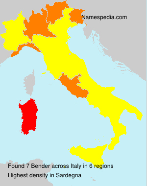 Surname Bender in Italy
