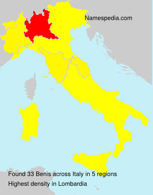 Surname Benis in Italy