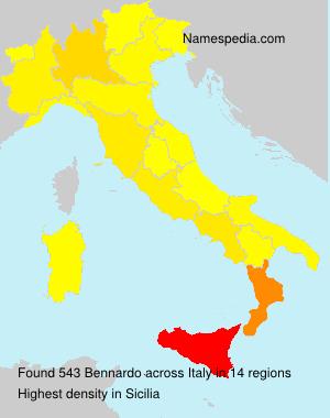 Surname Bennardo in Italy
