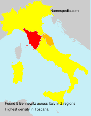 Surname Bennewitz in Italy