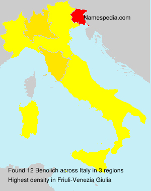 Surname Benolich in Italy