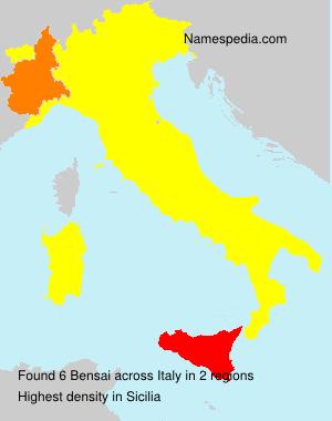 Familiennamen Bensai - Italy