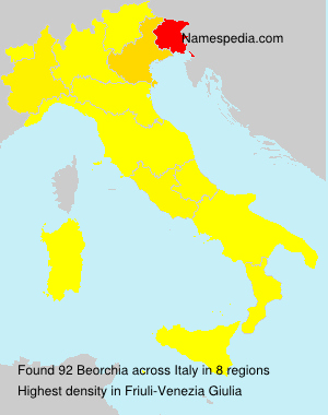 Surname Beorchia in Italy