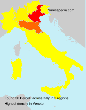 Surname Bercelli in Italy