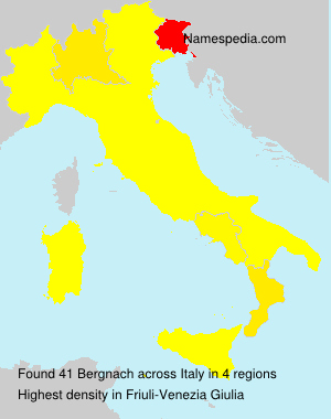 Surname Bergnach in Italy
