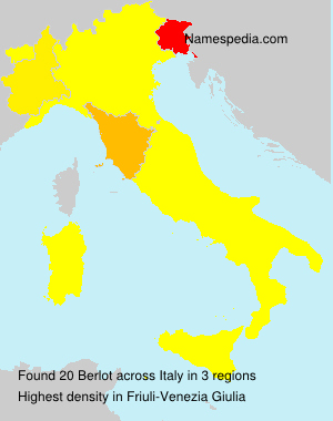 Surname Berlot in Italy