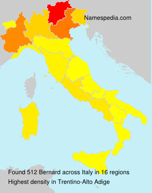 Surname Bernard in Italy