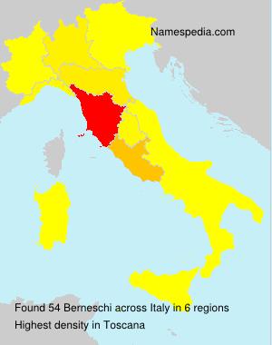 Surname Berneschi in Italy