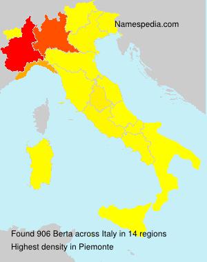 Surname Berta in Italy