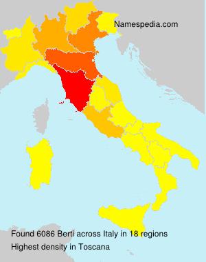 Familiennamen Berti - Italy