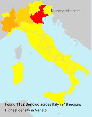 Surname Bertoldo in Italy