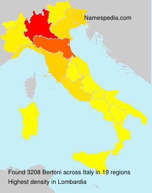 Surname Bertoni in Italy