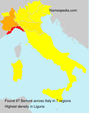 Surname Bertora in Italy