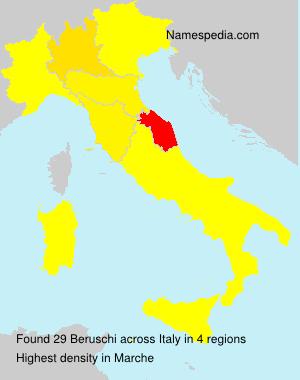 Surname Beruschi in Italy