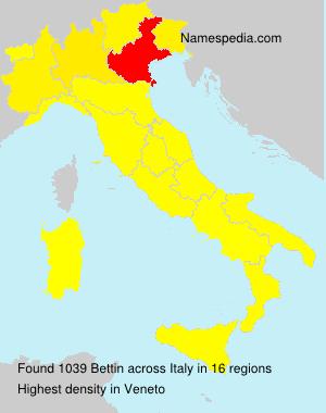 Familiennamen Bettin - Italy