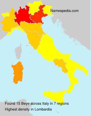 Familiennamen Beye - Italy