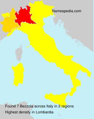Familiennamen Bezzola - Italy