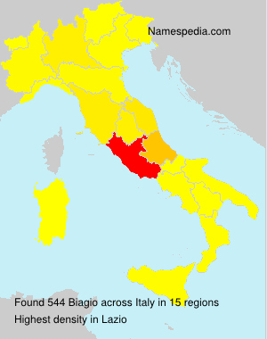 Surname Biagio in Italy