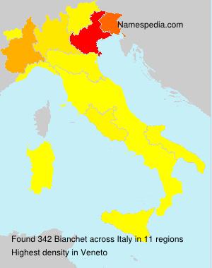 Familiennamen Bianchet - Italy
