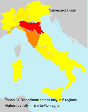 Surname Bianchinotti in Italy